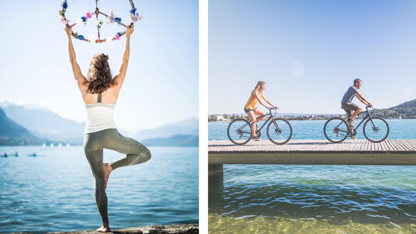 Yoga et vélo Lac Annecy - Nomad Bike