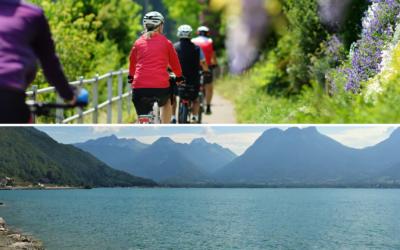 Que faire en groupe à vélo autour d'Annecy ?